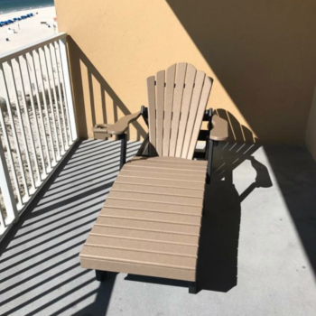 Balcony Lounge Chair at Gulf Shores Condo Rental