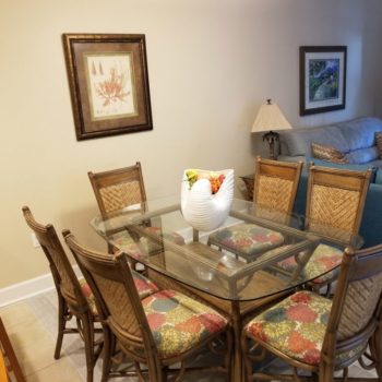 Dining Table at Gulf Shores Condo