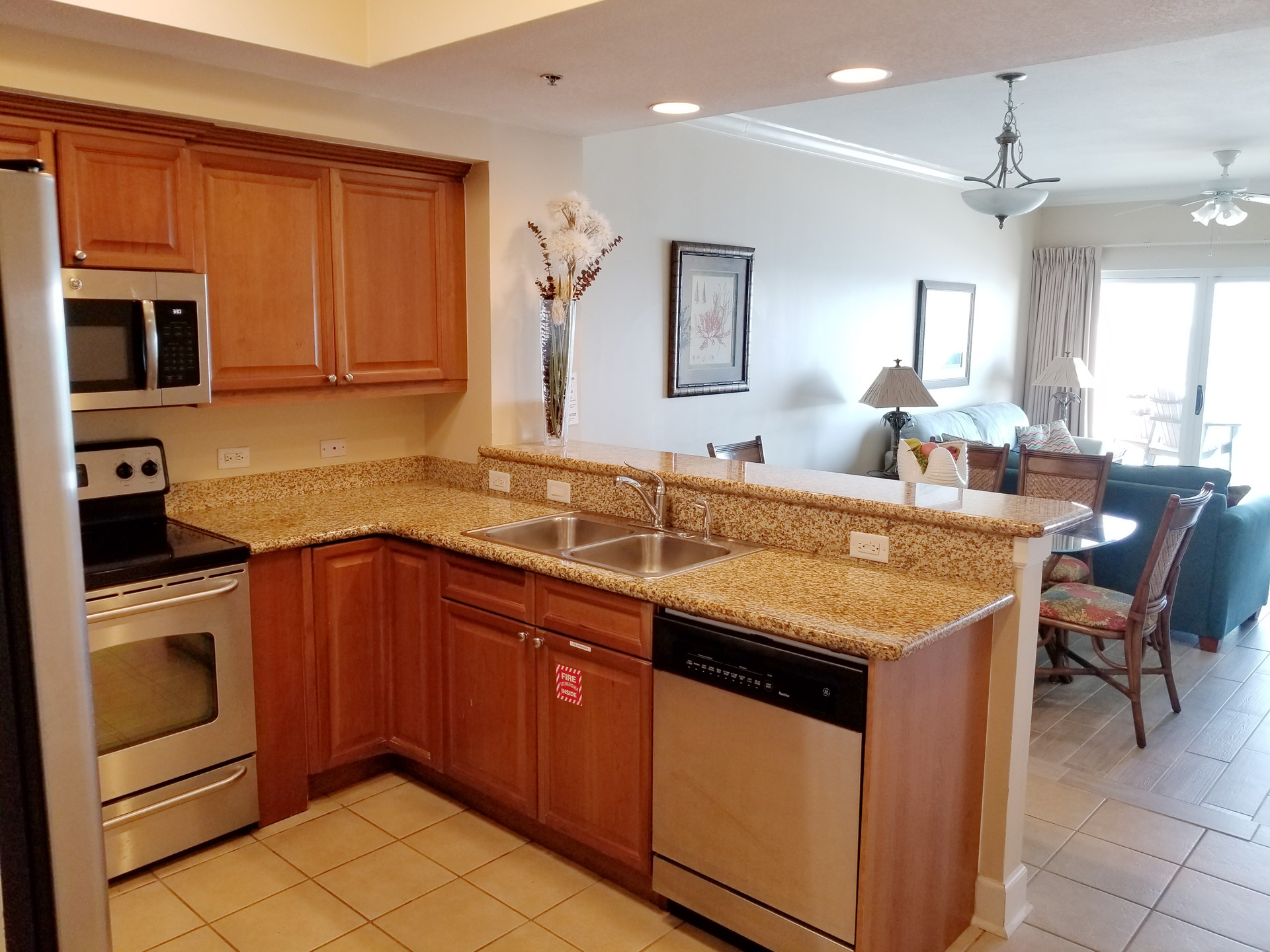 Kitchen at Gulf Shores Condo Rental