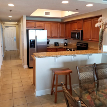Kitchen and Bar View at Gulf Shores Condo Rental