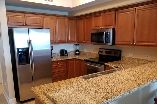 Kitchen at SeaWinds Condo in Gulf Shores