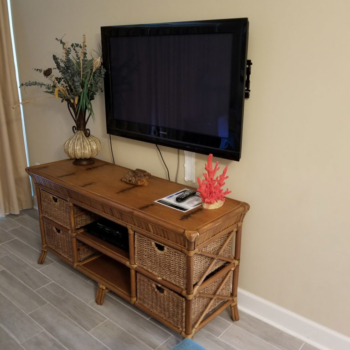 Living Room TV at Gulf Shores Condo