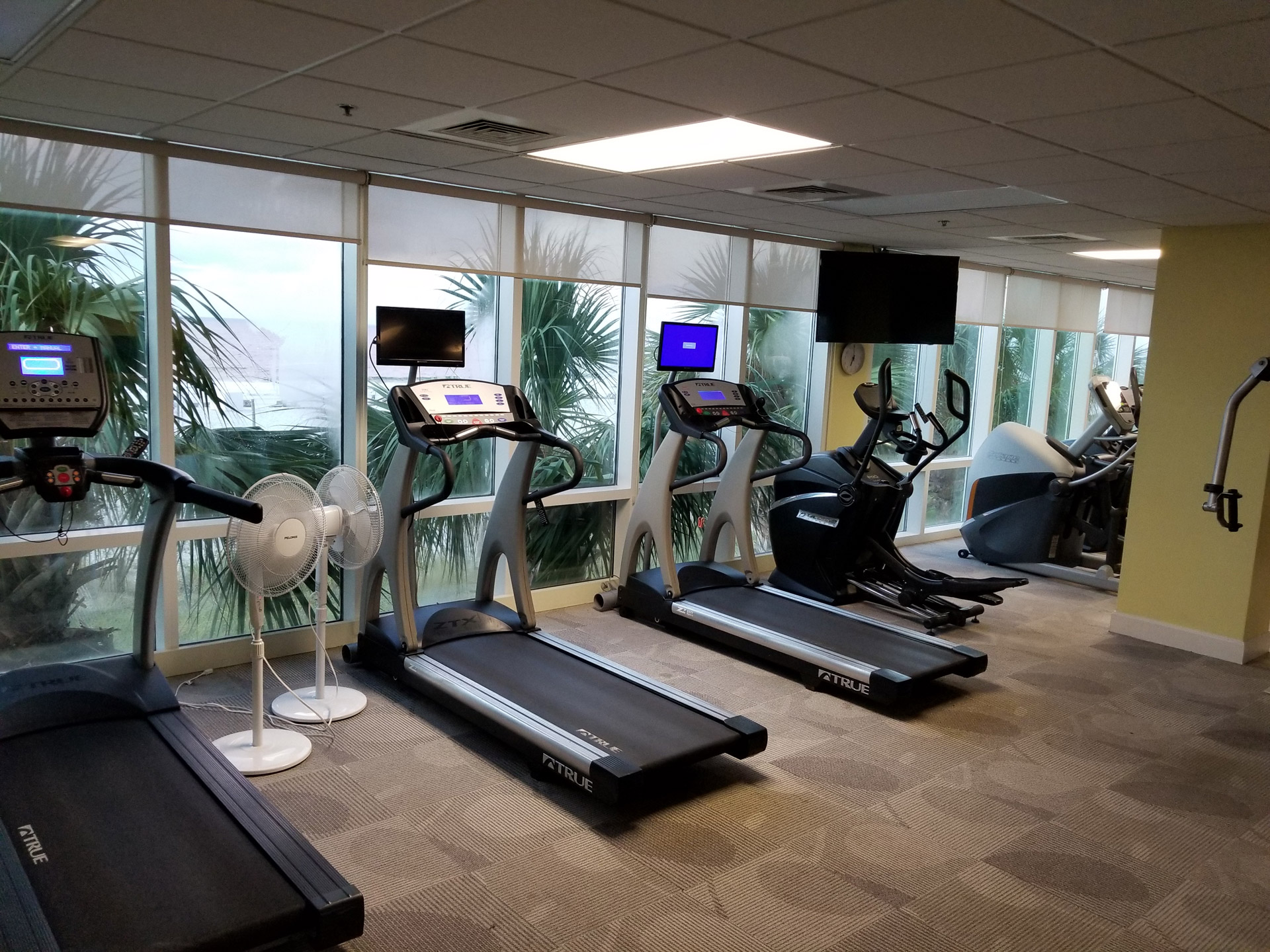 Treadmills in the Gym at Gulf Shores Condo Rental