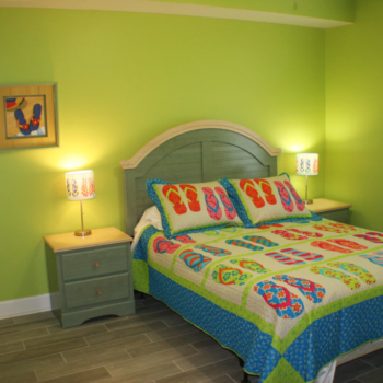 2nd Bedroom with Queen Bed and Nightstands