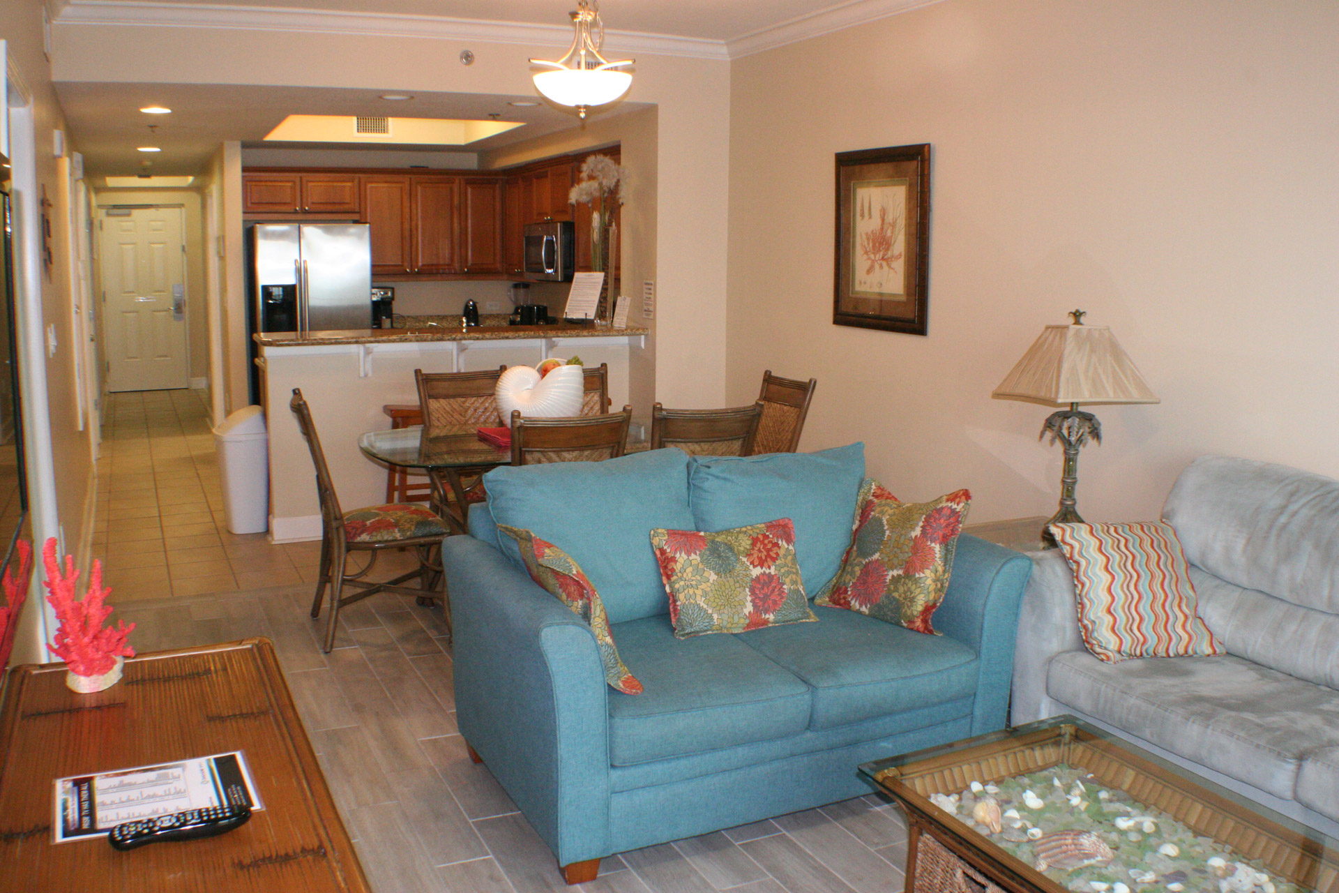 Living Room in Gulf Shores Condo Rental